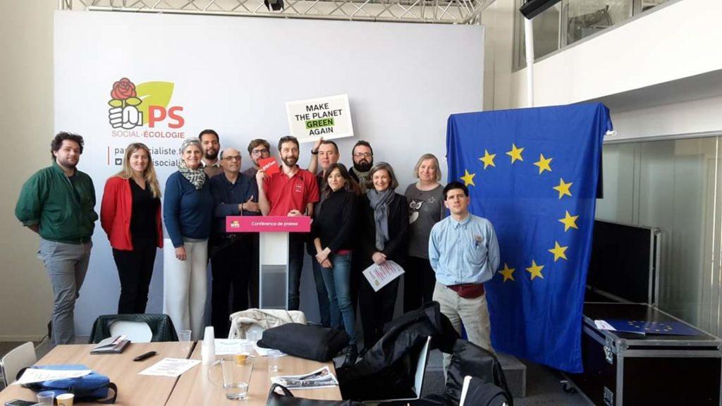 Photo des élus à la formation sur les européennes.